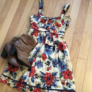 Jessica Simpson Fit 'n flare floral dress Sz 6